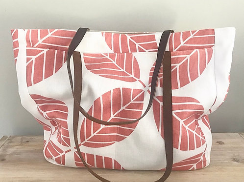 Flora in Sunset Martha Tote Bag