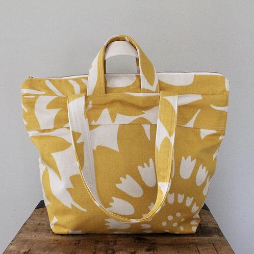 Sunflower Phee Zippered Small Weekender Tote Bag