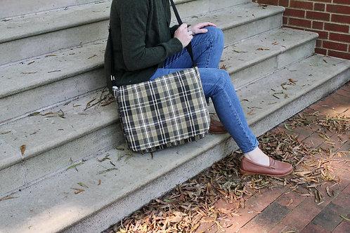Green Tartan Plaid Molly Messenger Bag