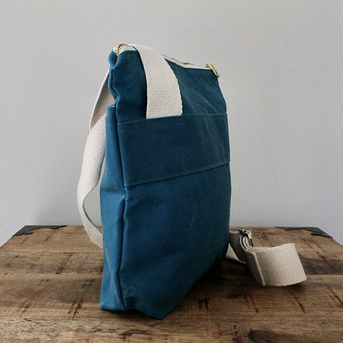 Capri with Starburst Waxed Canvas Hick Crossbody Bag