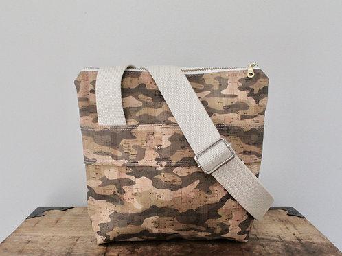 Camouflage Cork Hick Crossbody Bag