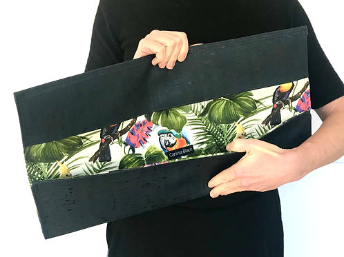 Sapphire Harper Clutch with Toucans