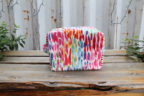 Dewdrop Kitty Toiletry Bag in Brights