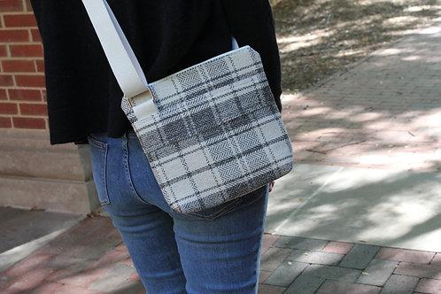 Cream Tartan Plaid Hick Crossbody Bag