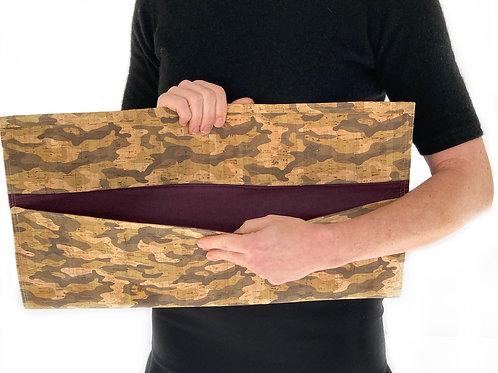 Camouflage Cork Harper Clutch