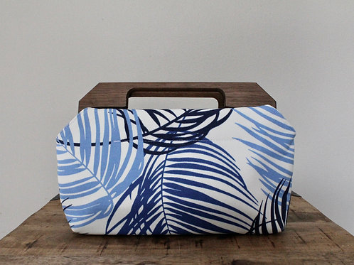 Fronds Charlotte Wood Handled Clutch