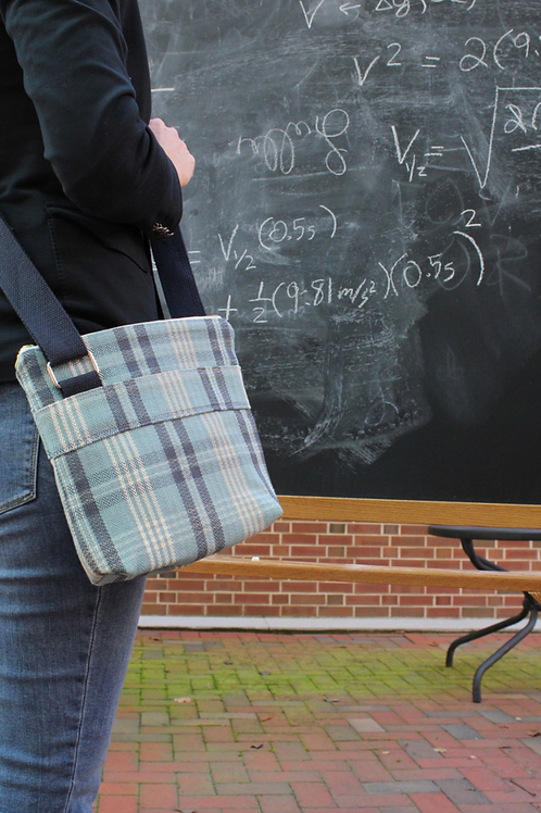Collegiate Blue Tartan Plaid Hick Crossbody Bag