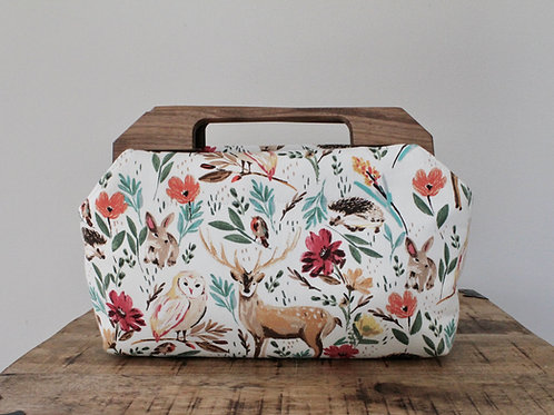 Forest Charlotte Wood Handled Clutch