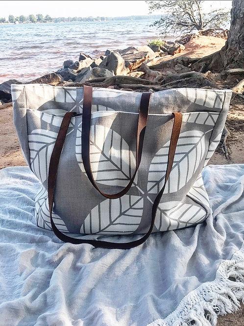 Flora in Sand Martha Tote Bag