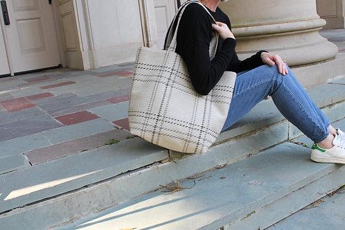 Neutral Benmore Plaid Frances Tote Bag