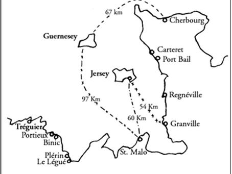 A via das Ilhas Anglo-Normandas - Brasil para a França entre 1820 e 1843