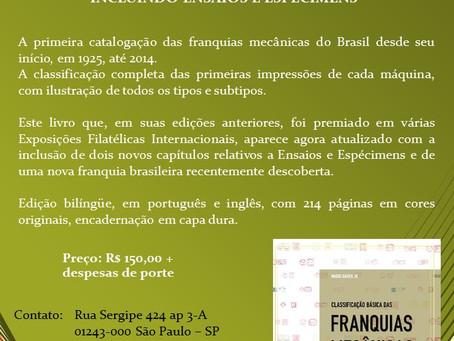 """Literatura Filatélica - """"Classificação Básica das Franquias Mecânicas Brasileiras"""""""