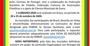 Convocatória - LUBRAPEX 2020