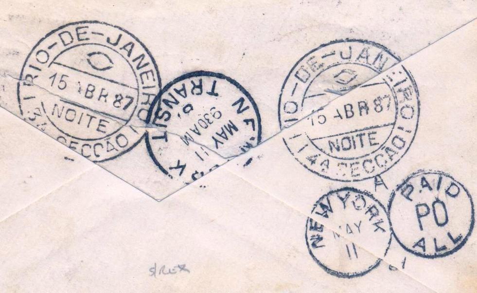 Fig 8 - Verso da carta (detalhe)