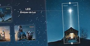 Correios de Portugal lançam 1º selo com luz LED no mundo