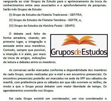 SPP cria Grupo de Estudos Filatélicos