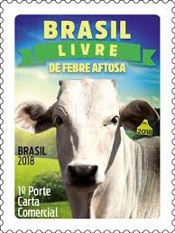 Nova emissão dos Correios: Brasil Livre da Febre Aftosa