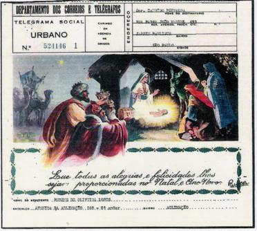 Telegramas Sociais de Natal dos Correios do Brasil - 1941/45 e 1961   Reinaldo E. Macedo
