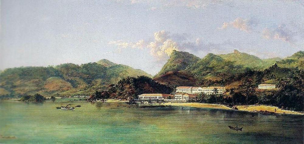 Fig 2 - O Lazareto - pintura a óleo de Nicolau Fachinetti