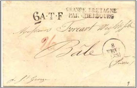 Fig. 4 – Do Rio de Janeiro a Bâle via Guernesey e Cherbourg