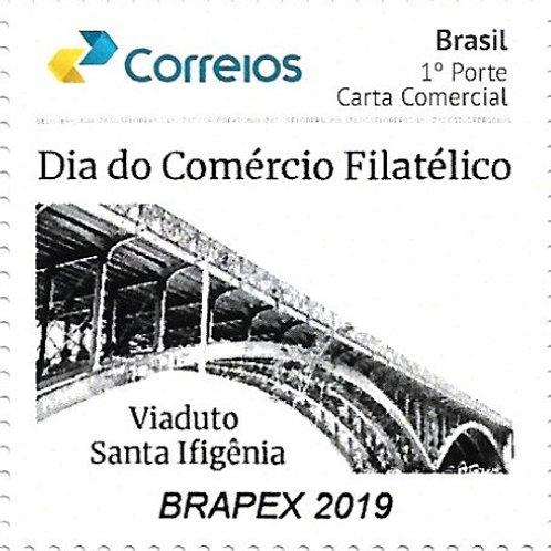 Selo Personalizado Dia do Comércio Filatélico- BRAPEX 2019