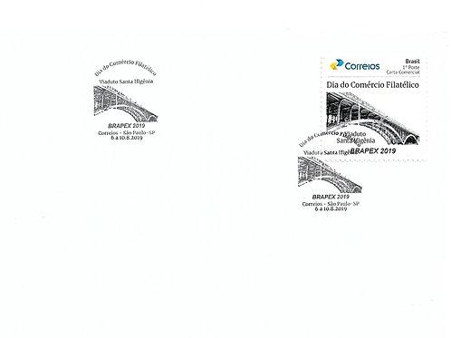 Envelope com Selo Personalizado Dia do Comércio Filatélico + Carimbo
