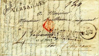 História de uma carta - 1828, da França para o Chile, com entrada no Rio De Janeiro | Klerman Lopes