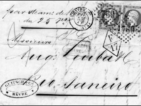 """As marcas de intercâmbio francesas """"F"""" sobre cartas brasileiras - Klerman W. Lopes"""