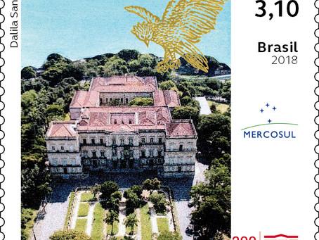 Emissão Postal Série Mercosul: Museus Brasileiros – Museu Nacional do Rio de Janeiro