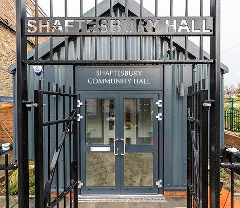 Shaftesbury Hall entrance