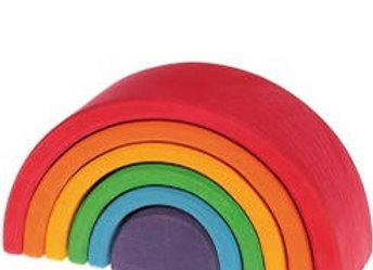Build it! Cards to inspire stacking  bright 6 Piece rainbow building