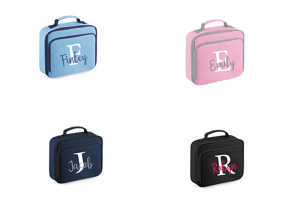 Insulated Lunchbags (Initials and names)