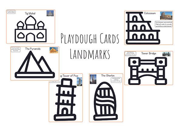 Land marks- Playdough cards