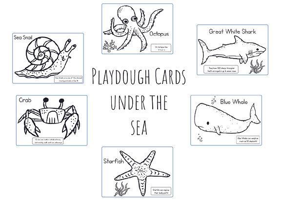 Under the sea - Playdough cards