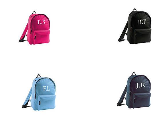 Rucksack Bags (Initials and names)