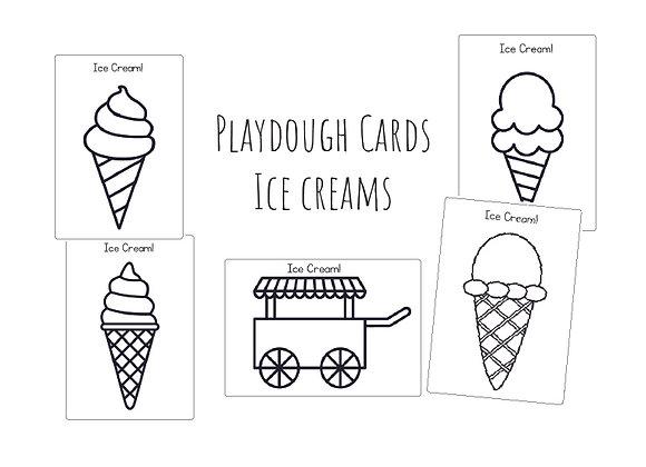 Ice Creams- Playdough cards