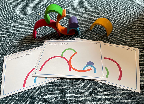 Build it! Mini 6 Piece Wooden Rainbow cards