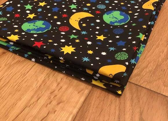 Duns Fabric Pieces -Space Black