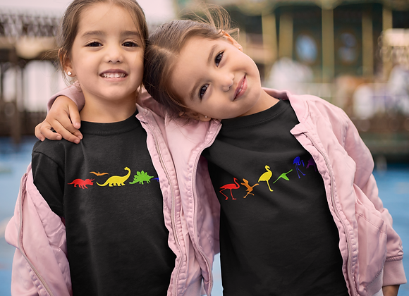 Children and Baby rainbow t-shirts