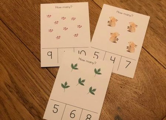 Printed Counting cards