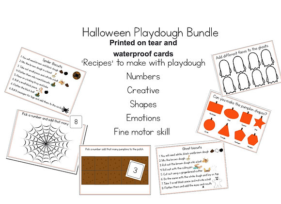 Printed Halloween Playdough set