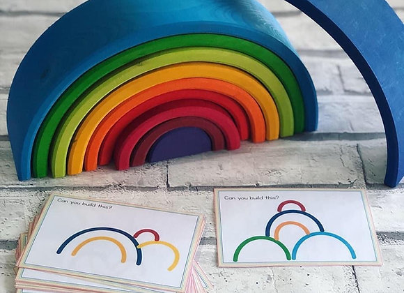 Build it! Cards to inspire stacking Sunset 12 Piece rainbow building