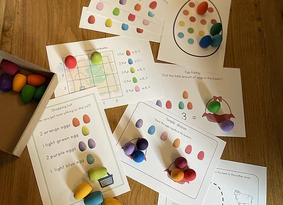 Rainbow Egg Activity cards