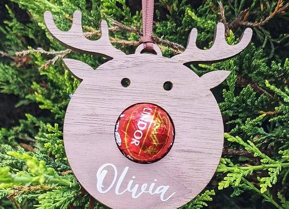 Personalised Reindeer Decoration