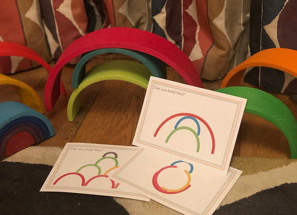 Build it! Cards to inspire stacking rainbow building