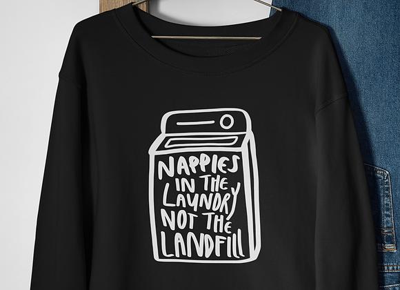 Nappys in landfill sweatshirt