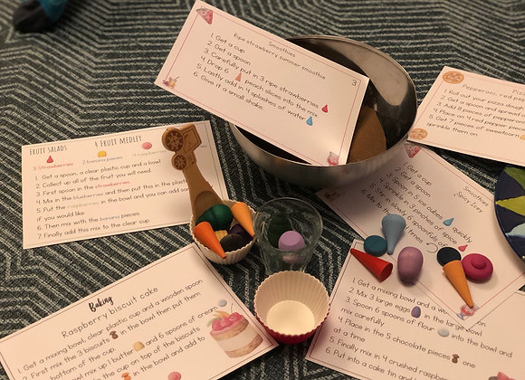Recipe cards for loose parts