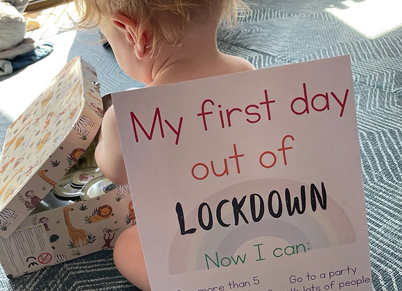 First day ever out of lockdown