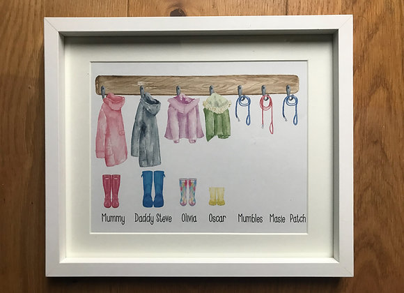 Family coat framed print