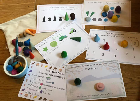 Starter set of Loose parts and cards